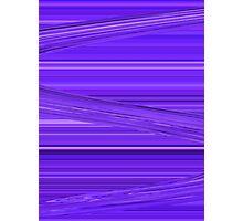 Bright Purple Violet Lines Design Digital Art Photographic Print