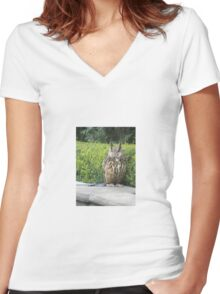 OWL WATCH Women's Fitted V-Neck T-Shirt