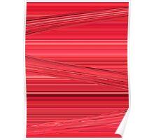 Bright Red Lines Design Digital Art Poster