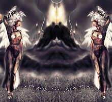 "Ambient Electra [Digital Figure Drawing...Mirrored version] ""Wide Vista"" by Grant Wilson"