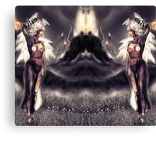 """Ambient Electra [Digital Figure Drawing...Mirrored version] """"Wide Vista"""" Canvas Print"""