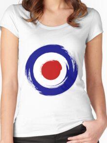 Brush stroKe Mod Target Women's Fitted Scoop T-Shirt