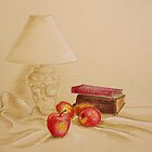 Still life with lamp and apples by Solotry