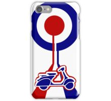 Retro Mod target and scooter Art iPhone Case/Skin