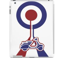 Retro Mod target and scooter Art iPad Case/Skin