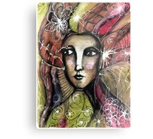 She thinks she was a bird in a past life... Metal Print
