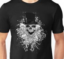 Skull and a Top Hat Unisex T-Shirt