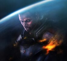 Mass Effect: Commander Shepard by spiritius
