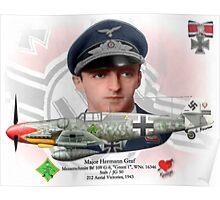 Major Hermann Graf Poster
