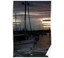 """""""Harbour Sunset"""" Poster"""