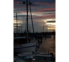 """""""Harbour Sunset"""" Photographic Print"""