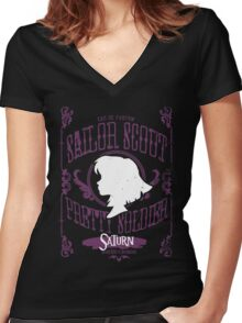 Saturn - Death Ribbon Revolution Women's Fitted V-Neck T-Shirt