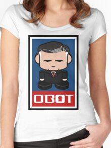 Mitt Romneybot Toy Robot 1.1 Women's Fitted Scoop T-Shirt