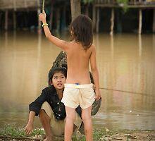 Fishing Girl by Adrianne Yzerman