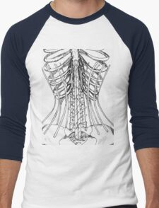 Corset Bones Men's Baseball ¾ T-Shirt