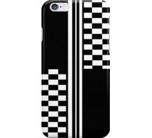 Stylish Black and white check and stripes iPhone Case/Skin
