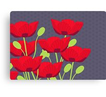 Vintage Poppy Canvas Print