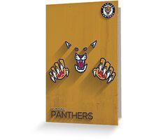 Florida Panthers Minimalist Print Greeting Card