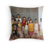 Orphanage School Throw Pillow