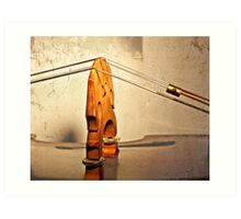 A Suspension Bridge  Art Print