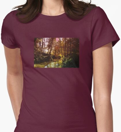 forest colours view  Womens Fitted T-Shirt