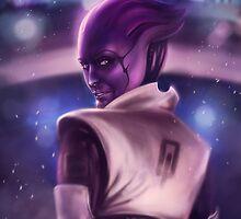 Mass Effect: Aria T'Loak by spiritius