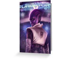 Mass Effect: Aria T'Loak Greeting Card