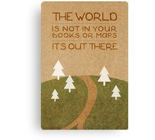 The World Out There Canvas Print