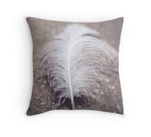 Like a Feather on the Wind Throw Pillow