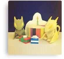 Birthday Dragons Canvas Print