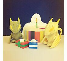 Birthday Dragons Photographic Print
