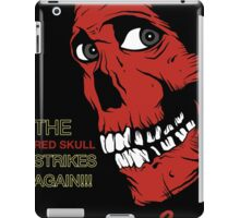 The Red Skull Strikes Again iPad Case/Skin