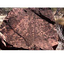 Aboriginal Petroglyphs outback australia Photographic Print