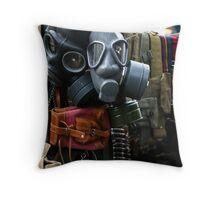 Gas Masks Throw Pillow