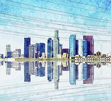 Los Angeles Skyline by Janet Antepara