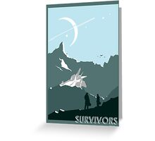 Space: Survivors Greeting Card