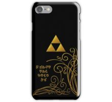 Triforce with Swirls - Hylian Text iPhone Case/Skin