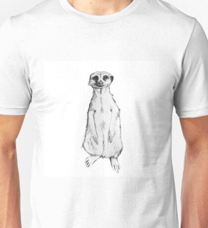 meerkat,drawing, pencil ,sketch Unisex T-Shirt