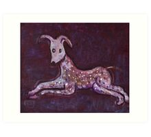Reclining dog Art Print