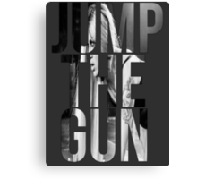 Jump the gun Canvas Print