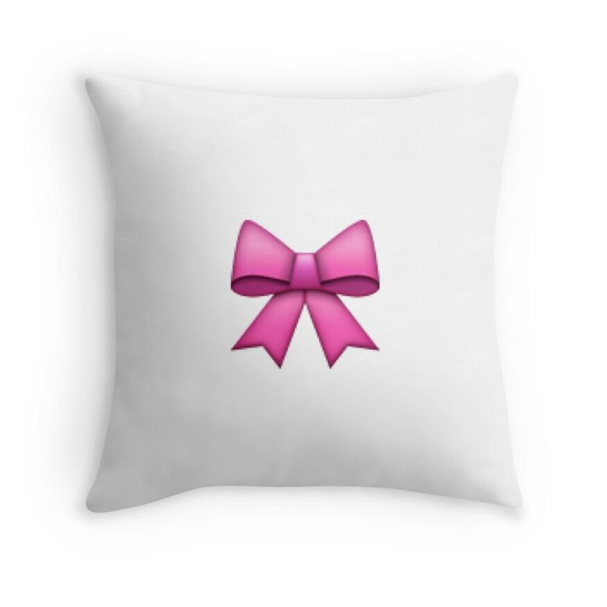 "X Bow Emoji ""Bow emoji pillow..."