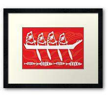 Thunderbird Canoe Paddlers  Framed Print
