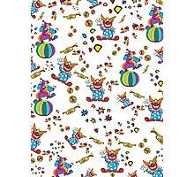 Comic Clown Pattern Photographic Print