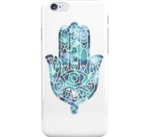 Pale Blue Crystal Hamsa iPhone Case/Skin