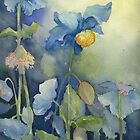 Blue Poppies by Myhandyourheart