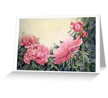 Tree peonies Greeting Card