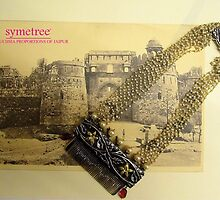 Floral Textured Beads Style necklace by SymetreeIND