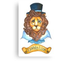 Dandy Lion Canvas Print