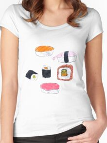 Aesthetic Sushi Women's Fitted Scoop T-Shirt