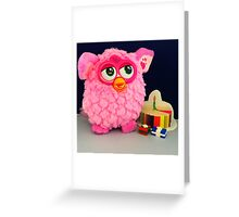 Pink Furby Birthday Greeting Card